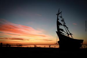 le soleil et le bateau
